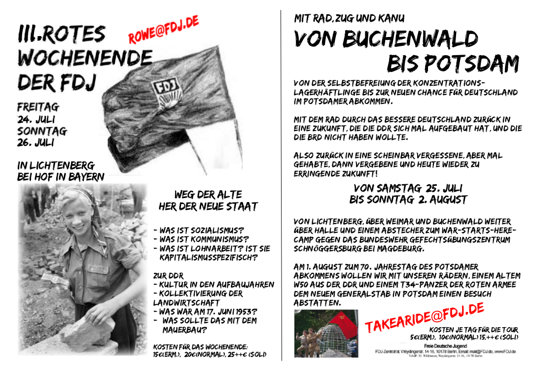 Rotes Wochenende 3 FDJ